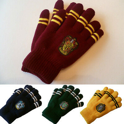 1pc Harry Potter Wool Couple Gloves Winter Hogwarts Warm Unisex Mittens Cosplay1