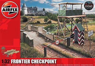 Airfix D-Day Frontier Checkpoint W/ Paint & Glue 1:32 Scale Plastic Model A06383