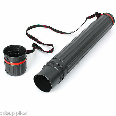 COMPACT TELESCOPIC DRAWING ARTWORK STORAGE CARRY TUBE 65cm EXTENDS 110cm 8cm Di