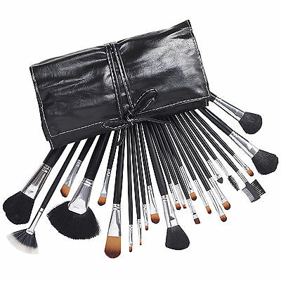 Beautify Professional 24 pc Cosmetic/Make up Makeup Brush Set with Black Case