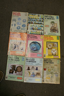 Vintage The Antique Trader Price Guide to Antiques Magazines lot 9 70's - 80's
