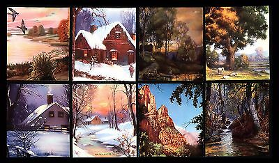 "Antique 1940's 'ink Blotter Sample Tops"" Unique Colorful Scenic (Lot Of 8)"