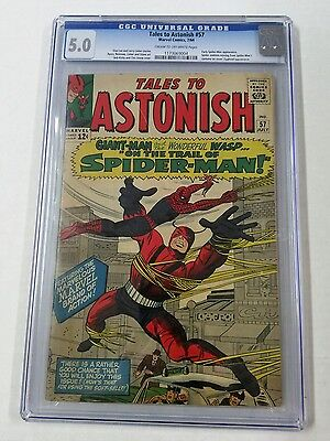 Marvel comics Tales to Astonish 57 1964 cgc 5.0 early spider-man appearance