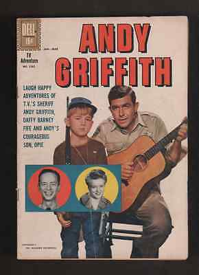 """1961 1st ISSUE  """" ANDY GRIFFITH """" DELL COMIC  RARE !   COMPLETE No. 1252"""