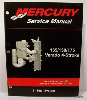 mercury verado 4 stroke 135 150 175 outboard factory shop service rh picclick com mercruiser 4 3 efi manual mercruiser 4 3 efi manual