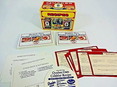 Quaker Brand Puffed Cereals Collectible Tin Recipe Box 1993 Limited Edition AUC1
