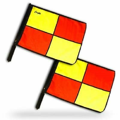 Champion Sports Official Pro Soccer Linesmen Referee Flags Set of 2 LFPRO