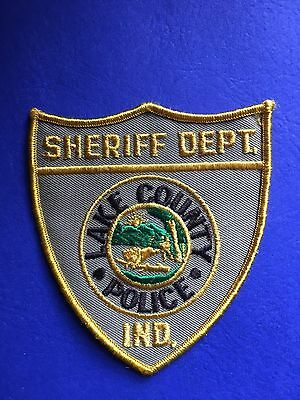 Lake County  Indiana Police Sheriff   Shoulder  Patch   Old