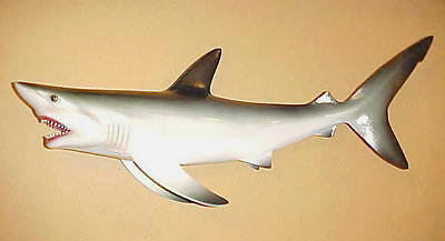 "18"" SHARK Wall Decor Bath Beach Tropical Fish Nautical Ocean Aquatic Great White"
