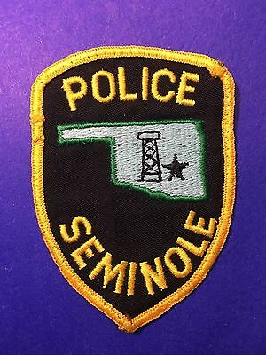Seminole Oklahoma Police   Shoulder  Patch  Used