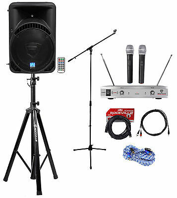 "Rockville Pro 15"" ipad/iphone/Android/Laptop/TV Youtube Karaoke Machine/System"