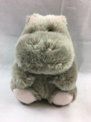 Hippopotamus Hippo Rare Grey Chadvalley Chad Valley Soft Toy Plush Ce Sitting