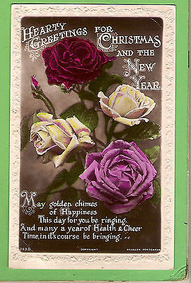 #A.     Flower  Rose Postcard -  Christmas & New Year