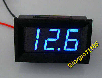 US Stock Blue LED Digital Volt Meter DC 4.5~150V 2 Wires For 9V 12V 24V 36V 48V