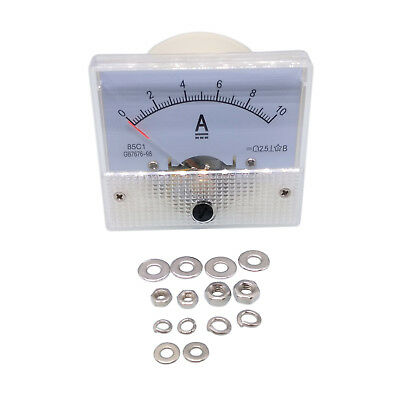 New Analog Panel AMP Current Ammeter Meter Gauge 85C1 0-10A DC