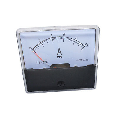 US Stock Analog Panel AMP Current Ammeter Meter Gauge DH-670 0-10A DC