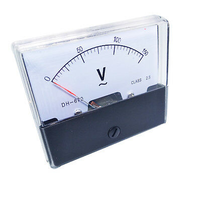 New Analog Panel Volt Voltage Meter Voltmeter Gauge DH-670 0-150V AC