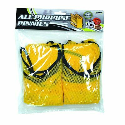 Franklin All-Purpose Youth Training Pinnies Yellow 6 Pack, Lighweight Breathable