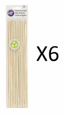 "Wilton Bamboo Dowel Rods 12 Pack 12"" X 0.25"" Eco-friendly Resource (6-Pack)"