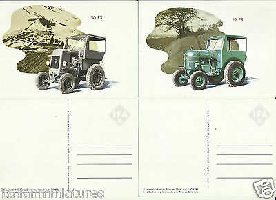 IFA Tractor Schlepper 22PS & 30PS Postcard x 4 East German Clean & Unused