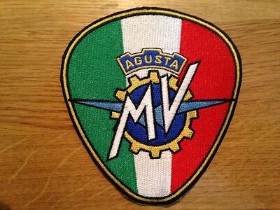 Large Italian Mv Agusta Motorcycle Racing Biker Quality Jacket Patch