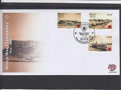 Malta 2014 World War I Centenary ship First Day Cover FDC Jum Il-hrug sp h/s