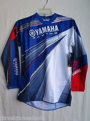 YOUTH motocross BMX jersey One Industries YAMAHA blue MEDIUM 51171-339-052