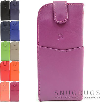 Ladies / Womens Prime Hide Real Soft Leather Spectacle / Glasses Case / Holder
