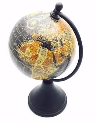 Vintage Style Small Antique World Globe 10cm With Wooden Stand HM1183