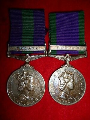 General / Campaign Service Medal Pair Malaya / Borneo to 10th Gurkha Rifles