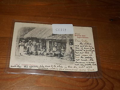 Old CEYLON  postcard our ref #55839 SINGHALESE BOUTIQUE 1898