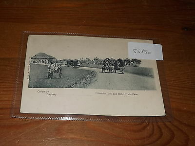 Old CEYLON  postcard our ref #55850 COLOMBO CLUB AND HOTEL GALLE FACE