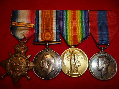 WW1 Mons Star Group of (4) Medals to North Somerset Yeomanry - Francis W Gibbons