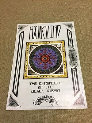 Hawkwind 1985 Chronicle of the Black Sword Tour Program FREE US SHIPPING