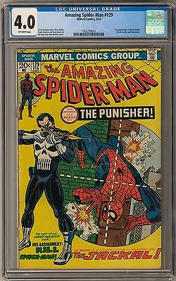 Amazing Spider-Man #129 CGC 4.0 (OW) 1st PUNISHER Appearance