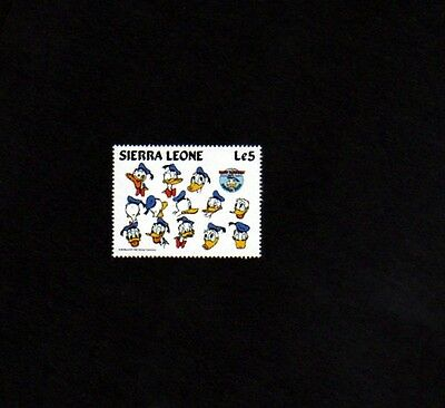 Sierra Leone - 1984 - Disney - Donald Duck - Drawings - Mint Single!