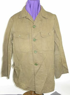 WWII Japanese Navy Green Cotton Tunic