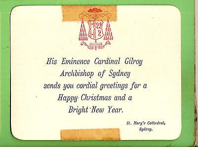 #a.    Greeting Card From Ccardinal  Gilroy, St  Marys Cathedral