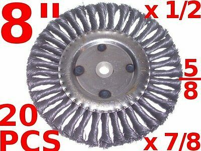 """(20 pcs) 8"""" Wire Wheel Brush Crack Cleaning Sealcoating fits Billy Goat Grazor"""