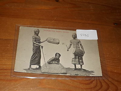 Old CEYLON  postcard our ref #55905 BASKET TRICK JUGGLERS COLOMBO 1913