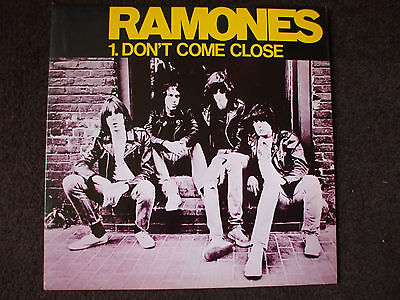 """Ramones - Don't Come Close/I Don't Want You.1978 12"""" YELLOW Vinyl Single."""