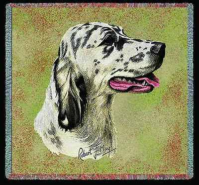 Lap Square Blanket - English Setter II by Robert May 2362