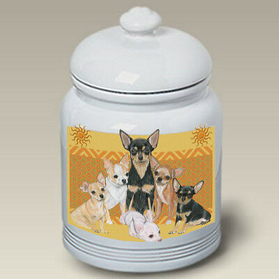Ceramic Treat Cookie Jar - Chihuahua Group (PS) 52046