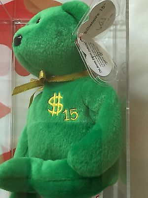 Ty Billionaire Bear #15 Authenicated Museum Quality Rare