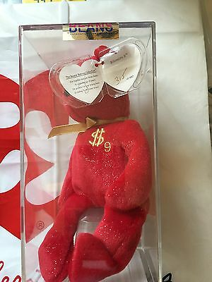 Ty Billionaire Bear #9 Authenicated Museum Quality Rare