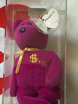 Ty Billionaire Bear #13 Authenicated Museum Quality Extremely Rare