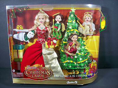 Nib Barbie Doll 2008 A Christmas Carol Eden Starling & The 3 Christmas Spirits