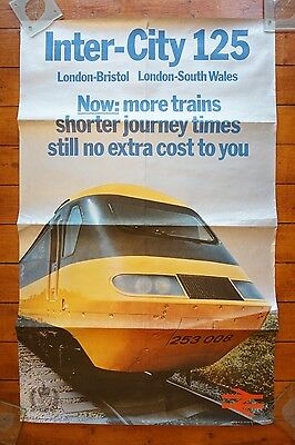 1977 Inter City 125 Shorter Journey Times Original Railway Travel Poster