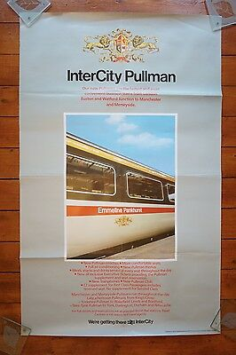 1985 Inter City Pullman Emmeline Pankhurst Original Railway Travel Poster