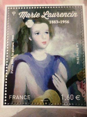 FRANCE 2016, timbre TABLEAU LAURENCIN, FILLE GUITARE, neuf**, VF MNH PAINTING